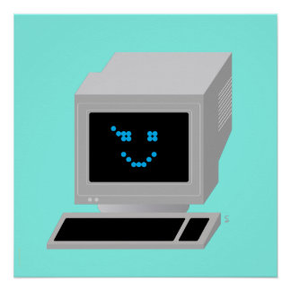 Iconographic Ol' School Computin' Perfect Poster