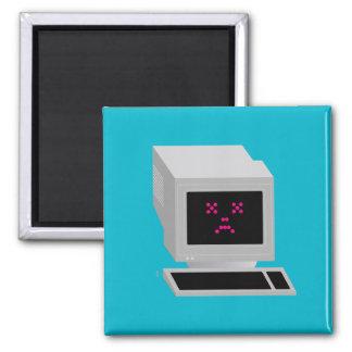 Iconographic Ol' School Crash 2 Inch Square Magnet