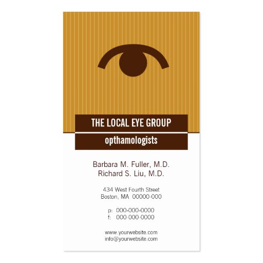 Iconographic Optical Appointment Business Card
