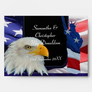 Iconos americanos patrióticos sobre