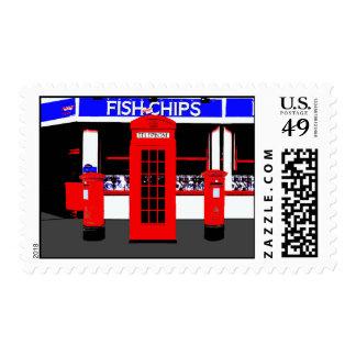 Iconos británicos inusuales sellos
