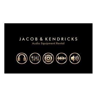 Iconos BusinessCard del oro del alquiler de equipo Tarjetas De Visita