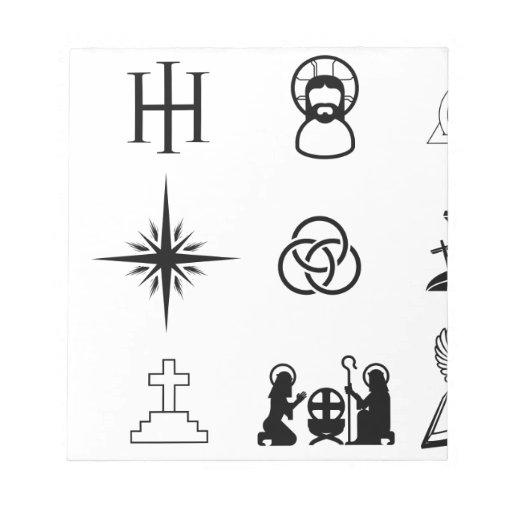 Iconos cristianos blocs de notas