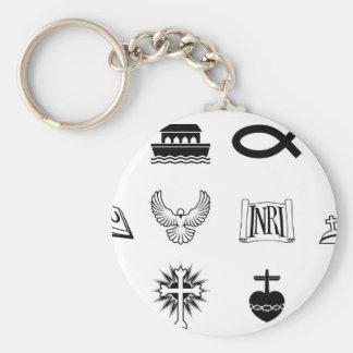 Iconos cristianos llaveros personalizados