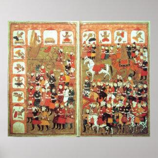 Iconos de destrucción de Mohamed en el Kaaba Póster