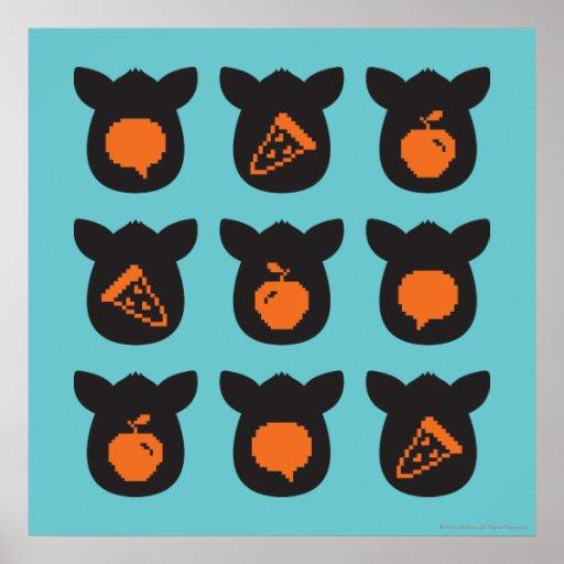 Iconos de Furby Póster