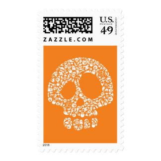 Iconos de Halloween - cráneo Sellos Postales