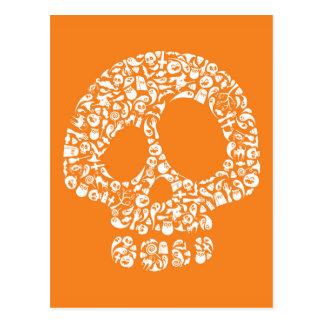 Iconos de Halloween - cráneo Tarjetas Postales