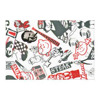 Iconos de la agencia de publicidad del arte pop - impresiones en lona estiradas