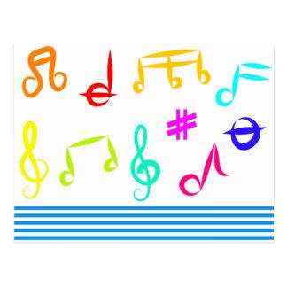 Iconos de la música tarjeta postal