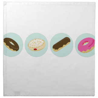 Iconos de la panadería del buñuelo servilletas