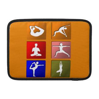 Iconos de la yoga funda  MacBook
