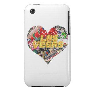 Iconos de Las Vegas - forma del corazón iPhone 3 Case-Mate Cobertura