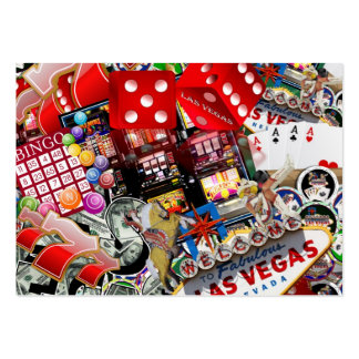 Iconos de Las Vegas - placer de los jugadores Tarjetas De Visita Grandes