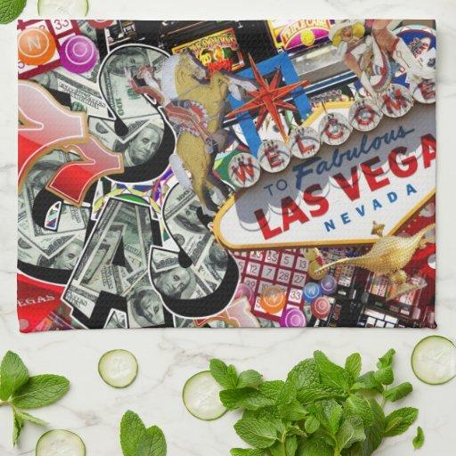 Iconos de Las Vegas - placer de los jugadores Toallas De Cocina