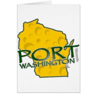 Iconos de los WI de Washington del puerto Tarjeta De Felicitación