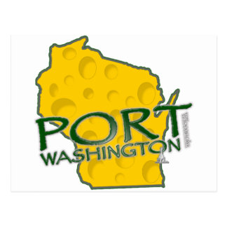 Iconos de los WI de Washington del puerto Tarjetas Postales