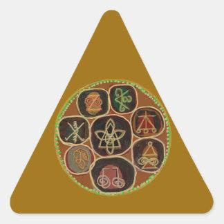 ICONOS de ReikiHealingArt n Karuna Reiki Pegatina Triangular