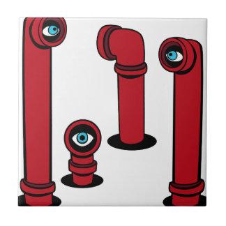 Iconos del alcance del espía azulejo cuadrado pequeño