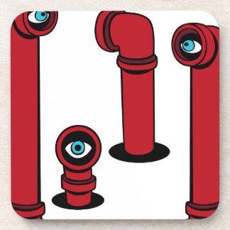Iconos del alcance del espía posavaso