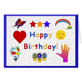 Iconos del feliz cumpleaños tarjetas