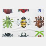 Iconos del insecto del insecto toalla de mano