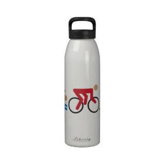 Iconos del logotipo del Triathlon en color Botella De Beber