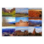 Iconos del paisaje de Utah Tarjetón