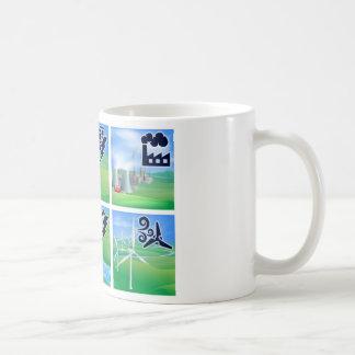 Iconos del poder y de la energía taza de café