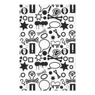 Iconos enrrollados blancos y negros  papeleria de diseño