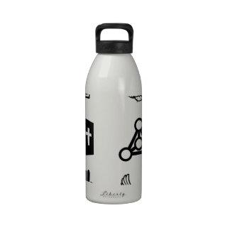 Iconos religiosos cristianos botella de beber