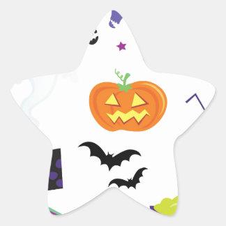Icons halloween star sticker
