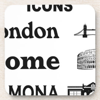Icons-London-Rome-Ramona Beverage Coaster