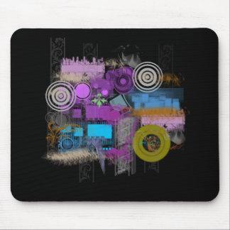 Icons - Retro GrungeCircles Mousepad