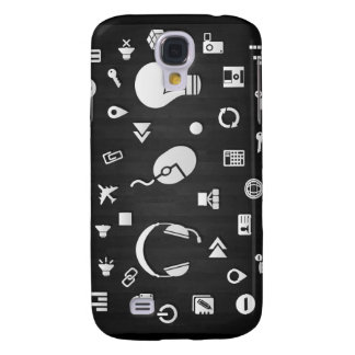 Icons vectors graphic design set collection assort samsung galaxy s4 cover