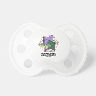 Icosahedron con los rectángulos de oro (geometría) chupetes de bebe
