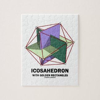 Icosahedron con los rectángulos de oro (geometría) rompecabezas