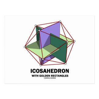 Icosahedron con los rectángulos de oro (geometría) tarjeta postal