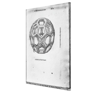 Icosahedron, from 'De Divina Proportione' Canvas Print