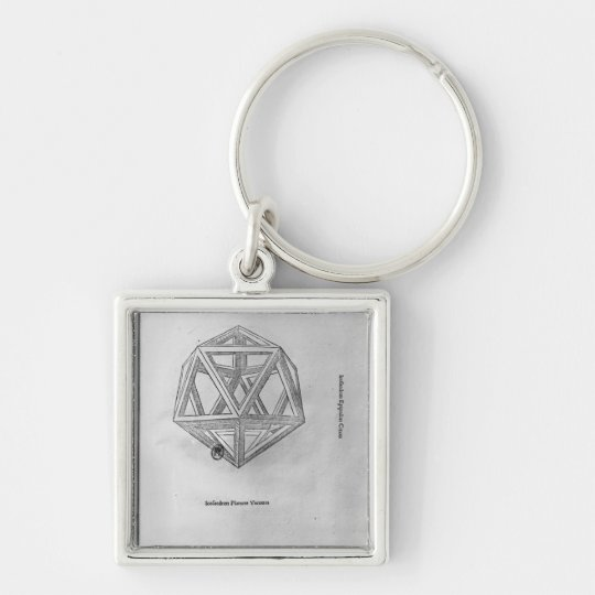 Icosahedron, from 'De Divina Proportione' Keychain