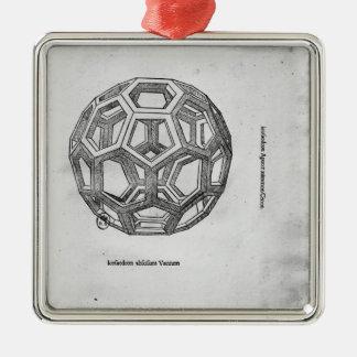 Icosahedron, from 'De Divina Proportione' Metal Ornament