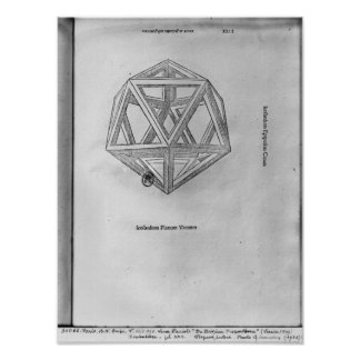 Icosahedron, from 'De Divina Proportione' Poster