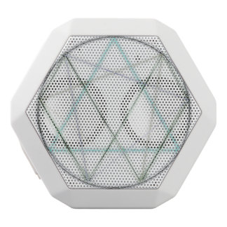 Icosahedron in Crayon White Bluetooth Speaker