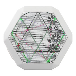 Icosahedron in Crayon White Bluetooth Speaker