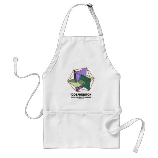 Icosahedron With Golden Rectangles (Geometry) Adult Apron
