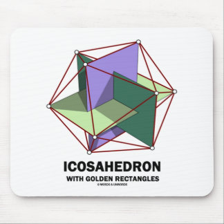 Icosahedron With Golden Rectangles (Geometry) Mouse Pad