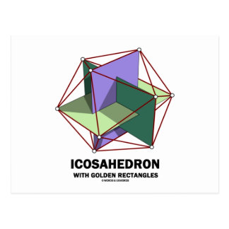 Icosahedron With Golden Rectangles (Geometry) Postcard