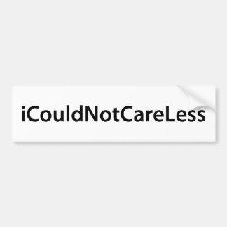 iCouldNotCareLess Car Bumper Sticker