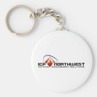 ICP North West Basic Round Button Keychain
