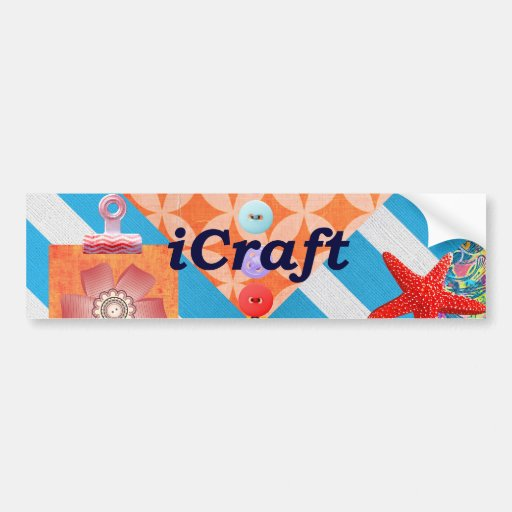 iCraft Scrapbooking and Buttons Craft Gifts Car Bumper Sticker